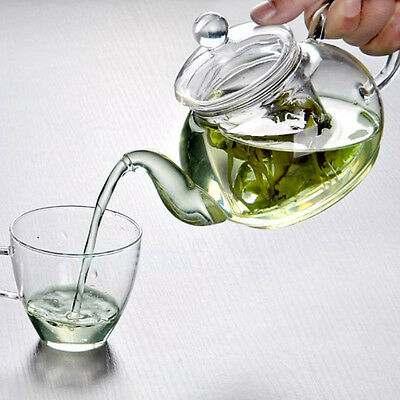 Practical Heat Resistant Cup Glass Teapot with Infuser Tea Leaf Herbal 350ML
