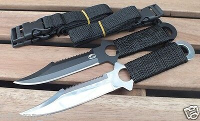 2 x Military Scuba, Diving, Snorkelling Spearfishing WILCOMP Knives WIL-DK-05MS