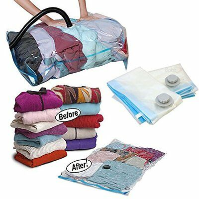 3 Piece Travel Vacuum Storage Bags Space Saving for Clothes Pillows Duvets