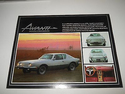 1983 Avanti Motor Corporation Avanti 20Th  Anniversary Brochure