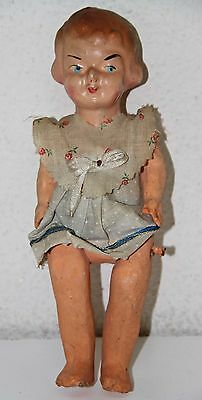 MU069 ANCIENT DOLL. PAPER MACHE. HAND PAINTED. SPAIN. EARLY 20th CENTURY