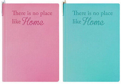 "Brand New - A-Z Indexed A5 Address Book 'There is no place like home""  Pink/Blue"