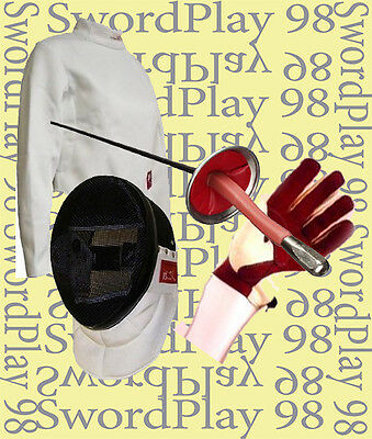 SwordPlay 98 Foil 4 Piece Standard Beginner Set - Right Hand Size Large, REDUCED