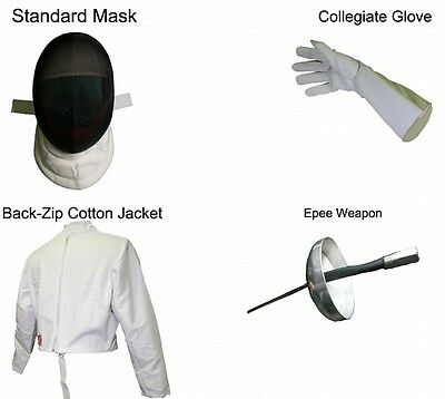Standard Epee 4 Pieces Beginner Set - Right Handed Size X Large