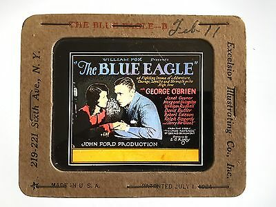 * THE BLUE EAGLE (1926) John Ford Silent Movie Glass Slide O'Brien & Gaynor
