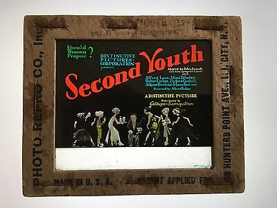 * SECOND YOUTH (1924) Silent Movie Glass Slide with ALFRED LUNT & DOROTHY ALLEN