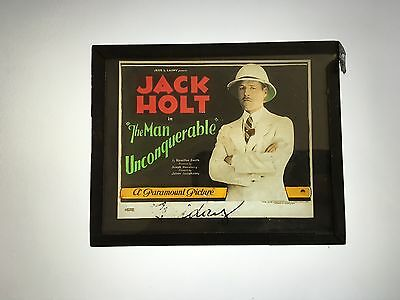 * THE MAN UNCONQUERABLE (1922) Silent Movie Glass Slide Featuring Jack Holt