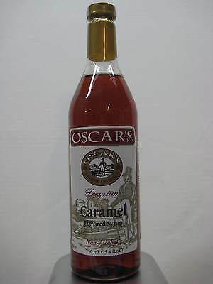 Oscars Caramel Flavoring Syrup 750 mL