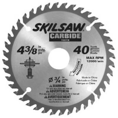 "Skil 75540 4-3/8"" x 40 Tooth Carbide Flooring Blade"