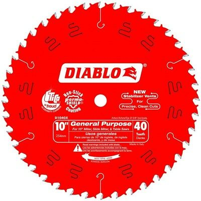 "Freud Tools D1040X 10"" x 40 Tooth ATB General Purpose Saw Blade (Diablo Series)"