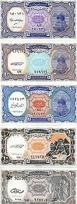 EGYPT Africa set of 5 UNC banknotes 10 Piasters all different