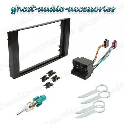 Ford Focus Double Din Stereo Fitting Kit Fascia / Wiring / Adaptor Facia Panel