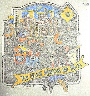 "VINTAGE 1974 THE RAT'S HOLE ""The Great American Rat Race"" IRON-ON TRANSFER"