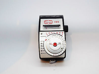 Vintage Photopia CDS Light Meter In Original Leather Case