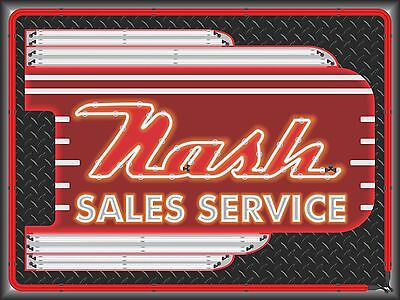 Nash Dealer Car Sales Marquee Neon Style Printed Banner Sign Remake Art 4' X 3'