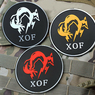 3 PCS Metal Gear Solid MGS XOF Badge Special Forces Armband 3D PVC Patch