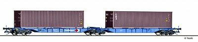 TILLIG 18030 TT Double carrying car Sggmrs 715 the DB AG with Containers