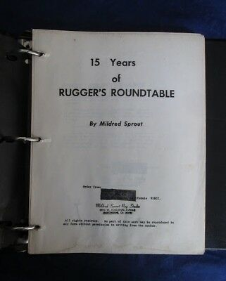 15 years of Ruggers Roundtable by Mildred Sprout 1955-1979