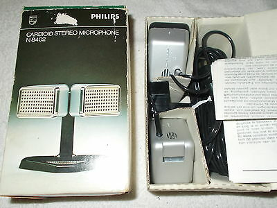 Micro  PHILIPS  N8402    Microphone  vintage comme neuf