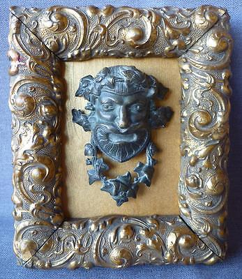 Antique furniture ornament framed made of bronze 19th century France bacchus ?