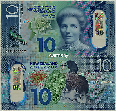 New Zealand 2015 Polymer Banknotes 10 Dollars UNC