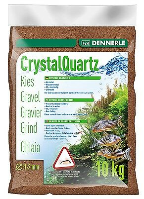 Dennerle Crystal Quartz Gravel Light Brown 10 kg Inert for Aquarium Fish Tank