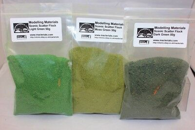 Model Flock Green Multipack - 3 x 50g Packs - Hornby Wargame Diorama