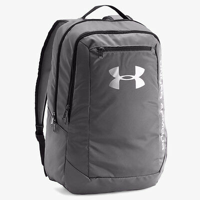 UNDER ARMOUR NEW Backpack Graphite Grey Hustle LDWR BNWT