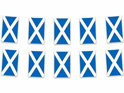 Scotland Scottish Saltire Bunting 5m Long 12 Bunts 30 x 21cm 100% Polyester