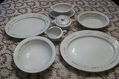 (( LQQKY HERE ))  Vintage Rose China Japan Sweet Love Deluxe Serving Set # 3704