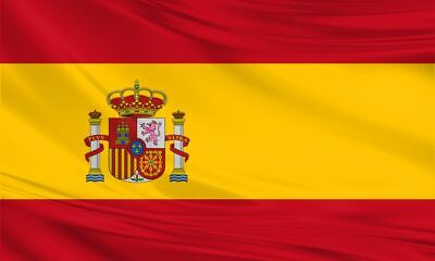 Spain Spanish Large Flag 5ft x 3ft / 1.5m x 90cm Polyester with Eyelets