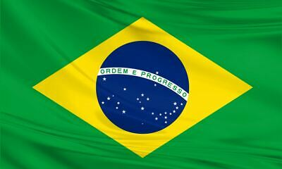 Brazilian Giant Flag 8ft x 5ft / 2.5m x 1.5m Polyester Football South America
