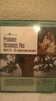FamilySearchPedigree Resource File Discs 31-35 and Master Index