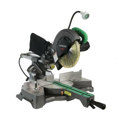 "Hitachi C8FSHE 8-1/2"" Sliding Compound Miter Saw with Twin Rail, Laser Guide and"