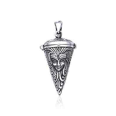 Pagan Wicca Goddess Pendulum .925 Sterling Silver Pendant by Peter Stone