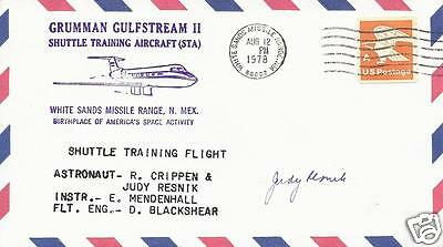 Judy Resnik Sts-51L Signed Postal Cover  - Uacc - Nasa Space Shuttle Astronaut