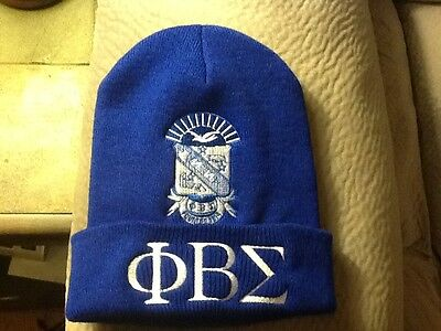 Phi Beta Sigma Knit Beanie W/Embroidered Shield