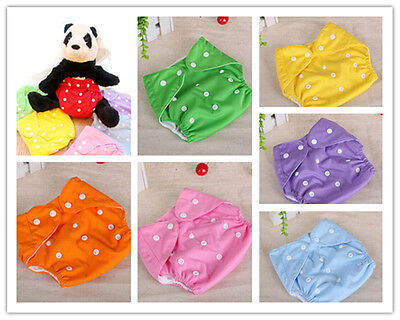 Cute Reusable Baby Infant Nappy Cloth Diapers Soft Cover Washable Adjustable New