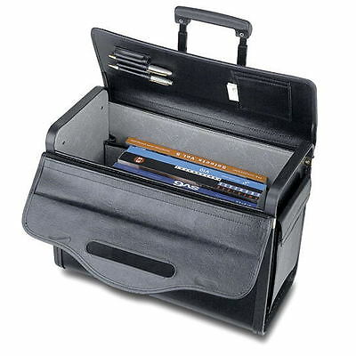 "19"" Rolling Catalog Pilot Case Wheeled Attache Briefcase Sample Lawyer Carry on"