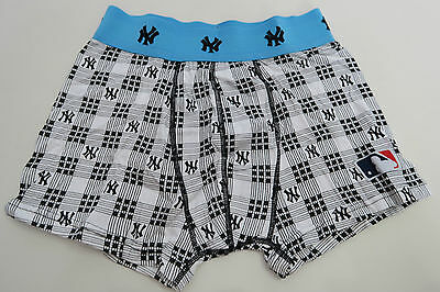 New York Yankees Mens Boxer Shorts Trunks Underwear size Small Black Blue  White 02dcc364647