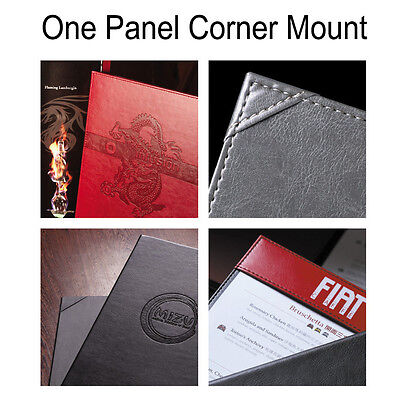 10 Letter size x Elegant PU Leather Menu Cover w/corner mount +Debossing Service