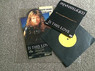 "Whitesnake - Is This Love - 1987 Shaped Picture Disc With Plinth & 7"" Single"