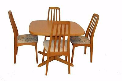 Mid Century Modern Danish Teak Table And 4 Chairs By Skovby
