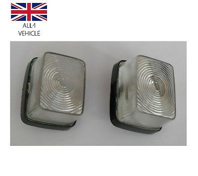 2 X White Front Outline Side Marker Lights Lamps Truck Trailer Lorry Chassis Bus