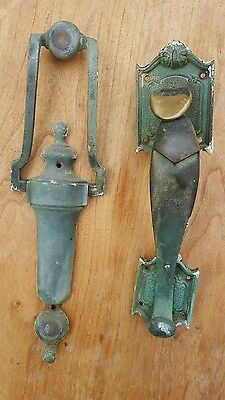 Antique Brass Door Handle & Knocker Beautiful Patina