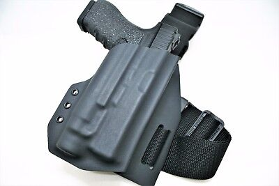 Kydex Drop Leg Holster- Light Bearing/ Standard- All Popular gun Models