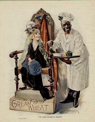"1923 Cream Of Wheat Ad / ""to The Queen's Taste"" Rgeat Scene..."