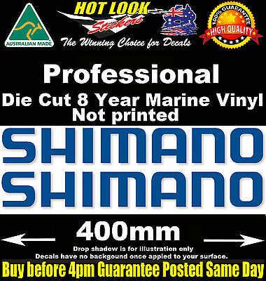 SHIMANO Decals x2 HUGE 400mm Wide stickers for boat fishing tackle box fridge