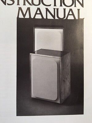 """JBL L65 Speaker """"Original"""" Authentic Owners Instruction Manual 16 Pages"""