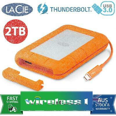 Lacie 2TB Rugged Thunderbolt & USB 3.0 Portable Hard Drive STEV2000400